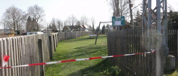 Wie alle Spielplätze in der Stadt Greiz bleiben auch der Obergrochligtzer Spielplatz und in der Eichleite aufgrund der Corona-Pandemie geschlossen.